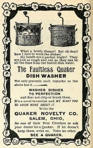 publicité pour produit vaisselle - 1896 (illustration : McClure's Magazine)