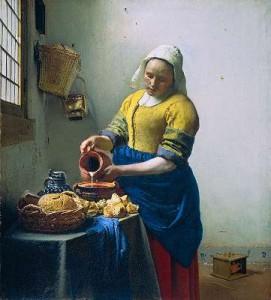 """""""La Laitière"""" -  Johannes Vermeer (c .1660)"""